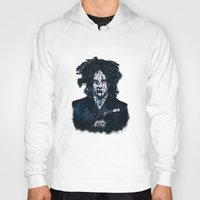 jack white Hoodies featuring Typo-songs Jack White by Daniac Design