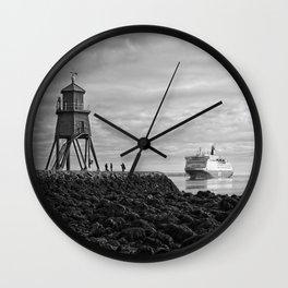 The Herd Groyne Lighthouse, South Shields Wall Clock