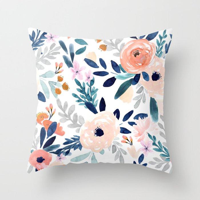 Jolene Floral Throw Pillow