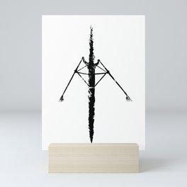Rowing in ink Mini Art Print