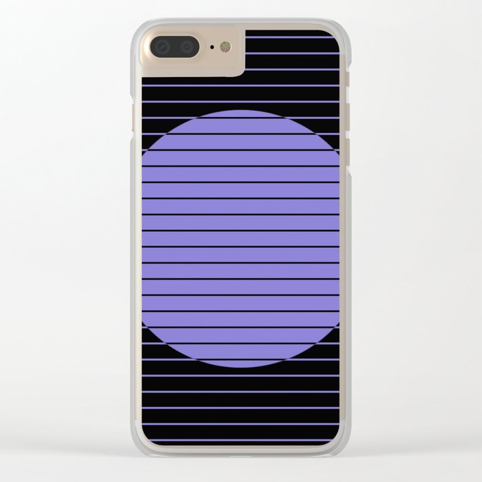 Difference (Minimalistic, pastel blue and black, geometric design) Clear iPhone Case