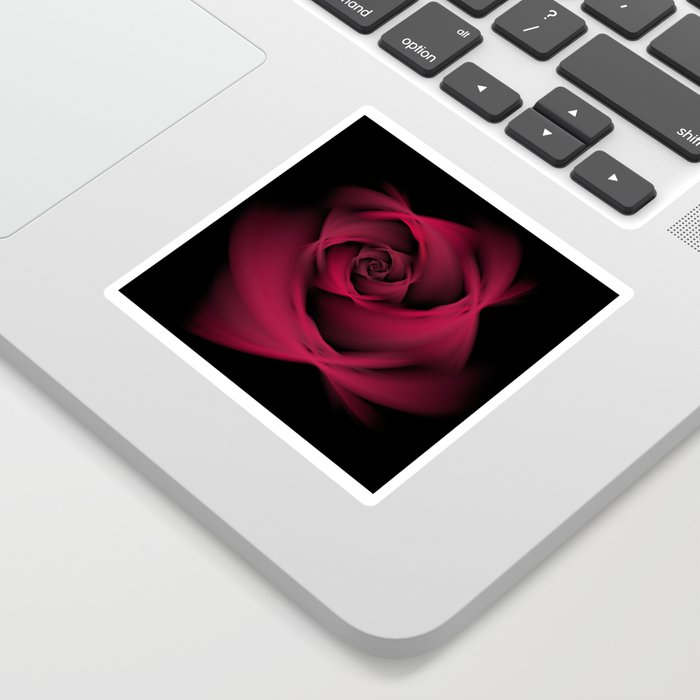 Abstract Rose Burgundy Passion Sticker