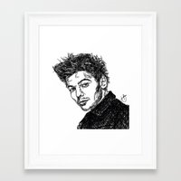 louis tomlinson Framed Art Prints featuring Louis Tomlinson by Hollie B
