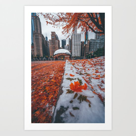 Fall And Winter Chicago Art Print By Mattbweitz Society6