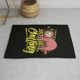 Just Chilling | Sloth Relax Sleep Chill Rug