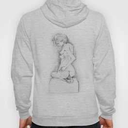 life drawing woman Hoody