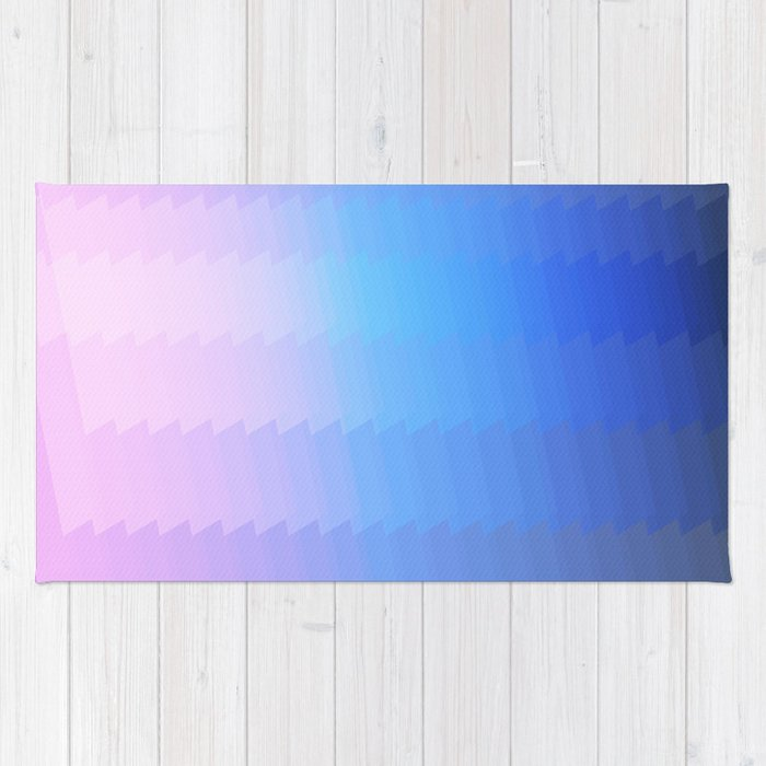Blue Pink Ombre Color Grant Abstract Pattern Rug By Martaolgaklara Society6