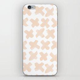Blush Crosses iPhone Skin