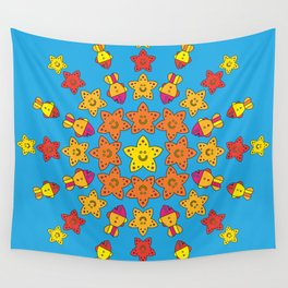 Stylize fantasy fishes under water Wall Tapestry