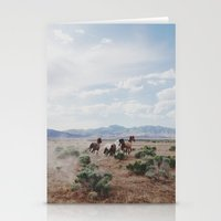 utah Stationery Cards featuring Running Horses by Kevin Russ