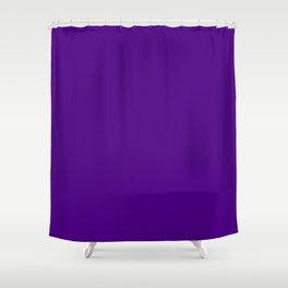 Solid Bright Purple Indigo Color Shower Curtain