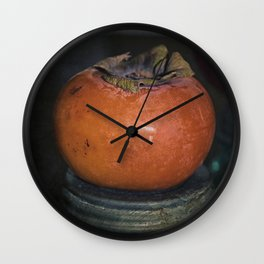 Persimmon Still Life Wall Clock
