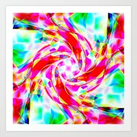 volleyball Art Prints featuring Abstract Volleyball by Krazee Kustom