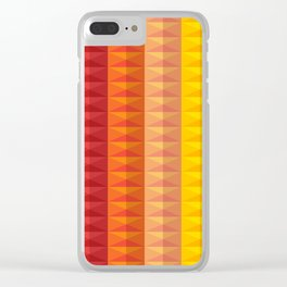 Bold Geometric Stripes Clear iPhone Case