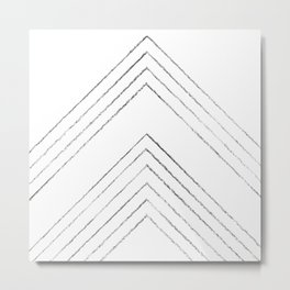 Geometric line art 4 Metal Print