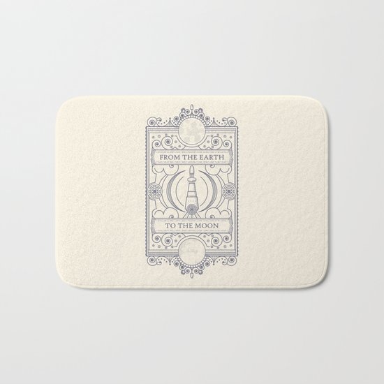 From The Earth To The Moon Bath Mat