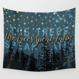 The trees speak latin Wall Tapestry