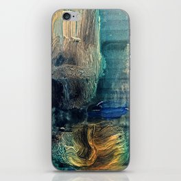 Ascent // abstract modern painting iPhone Skin