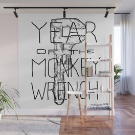Year of the Monkey Wrench Wall Mural