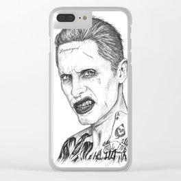Suicide / Squad - Joker Portrait Clear iPhone Case