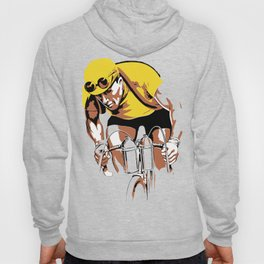 The yellow jersey (retro style cycling) Hoody