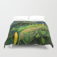 hamlet Duvet Covers featuring Hamlet by SPACE AGE ART