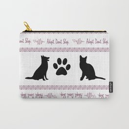 Adopt. Dont. Shop. Christmas Sweater Carry-All Pouch