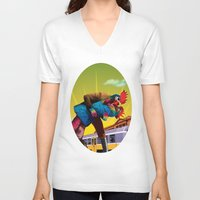 passion V-neck T-shirts featuring Passion by Pierre-Paul Pariseau