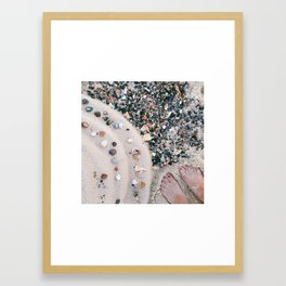 Beachy Feet Framed Art Print