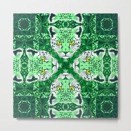 Emerald Leopard  Metal Print