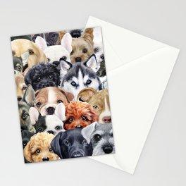 Dog All start, Dog illustration original painting print Stationery Cards