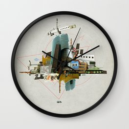 Collage City Mix 3 Wall Clock