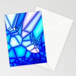 Glowing blue Stationery Cards