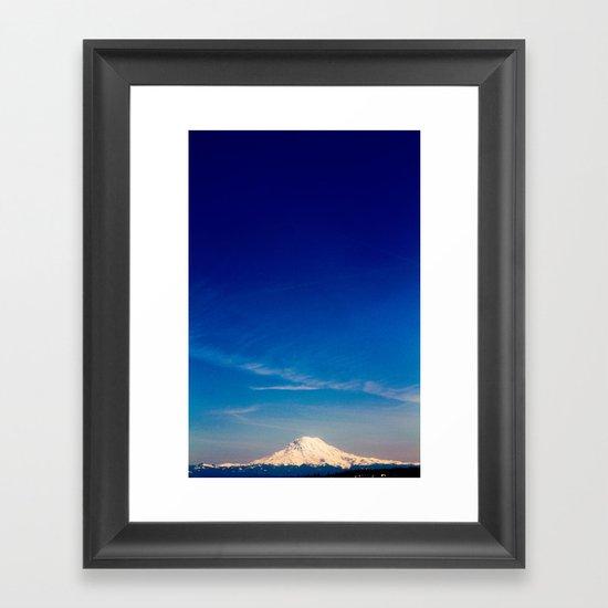 Mt. Rainier . ii Framed Art Print