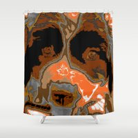 puppy Shower Curtains featuring Puppy by Dawn Hayes