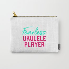 Fearless Ukulele Player Strumming Through Life Ukelele Music Carry-All Pouch