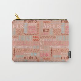 Text and the City Multi Retro + Buff Carry-All Pouch