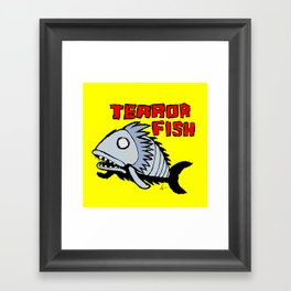 Terror fish Framed Art Print