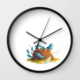 Bird in the wind Wall Clock