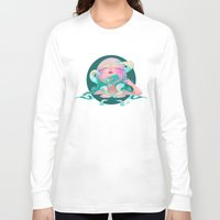 horror Long Sleeve T-shirts featuring Horror fish by STUDIO KILLERS
