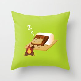 Sleeping S'more Throw Pillow