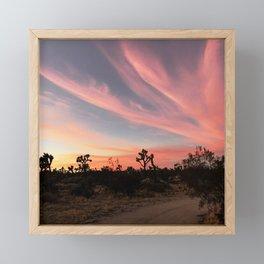 Joshua Tree Sunset Framed Mini Art Print