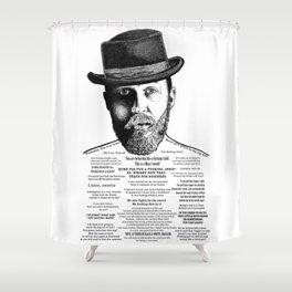 Alfie Solomons Ink'd Series Shower Curtain
