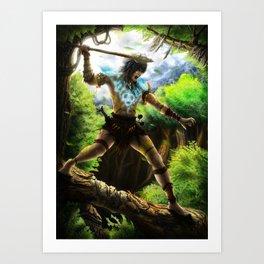 Tribe Warrior Art Print