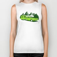 camping Biker Tanks featuring Camping trip by Grilldress