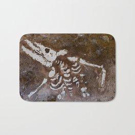 Dinosaur bones Bath Mat