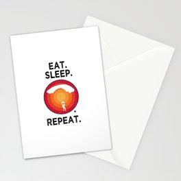 Eat. Sleep. Paragliding. Repeat. T Shirt Hanggliding TShirt Skydiving Shirt Vintage Gift Idea  Stationery Cards