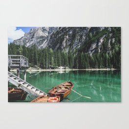 Boats at the Lake // Landscape Photography Canvas Print