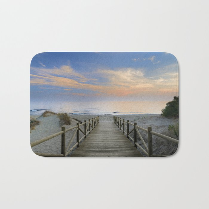 "The path..., the beach.... ""Artola"". Bath Mat"