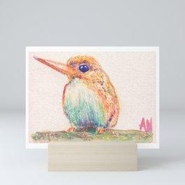 Birds Collection in Watercolor Pencils Mini Art Print